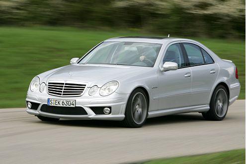 Das Allround-Talent des Vergleichs: der Mercedes-Benz E 63 AMG.