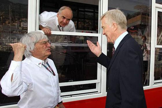 Formel-1, FIA Präsident Max Mosley und Bernie Ecclestone