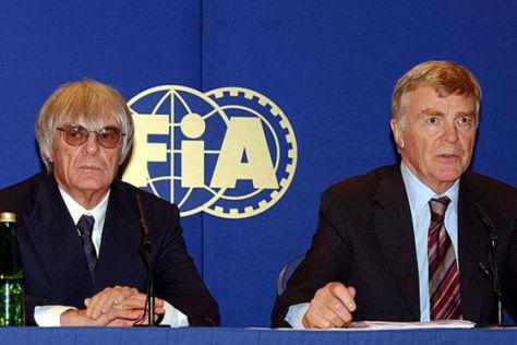 Formel 1 gerettet: Max Mosley (rechts) und Bernie Ecclestone