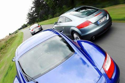 Audi TT, BMW Z4 und Porsche Cayman im Test - autobild.de