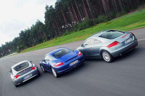 Während der Audi sich gesittet gibt, beißen BMW und Porsche ordentlich zu.