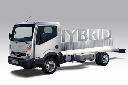Blick in die Zukunft: der Cabstar als Studie mit Hybridantrieb.