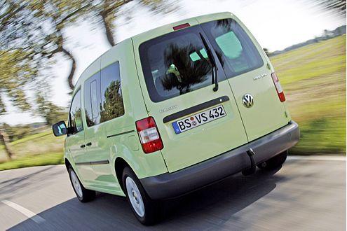 Schwergewicht: Der VW Caddy bringt 1350 Kilo auf die Waage.