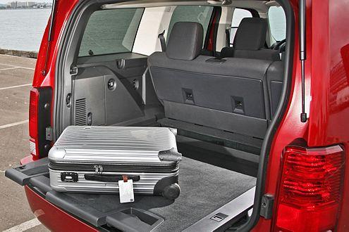Beim Topmodell R/T kann der Kofferraumboden herausgezogen werden.