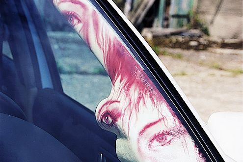 """Selbst die A-Säule bekam ihre """"Frau ab"""". Airbrush wohin das Auge schaut."""