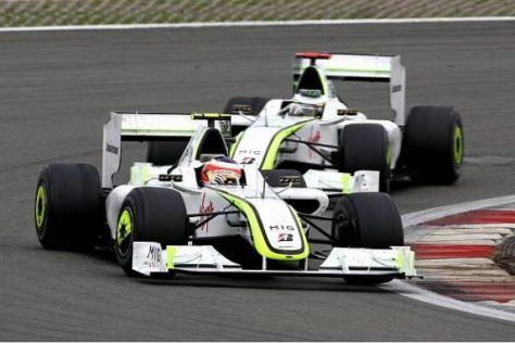 Rubens Barrichello war sauer, dass er am Ende hinter Jenson Button lag