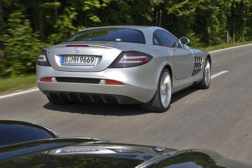 Hightech in Action: Der SLR McLaren geht in 3,8 Sekunden auf 100 km/h.