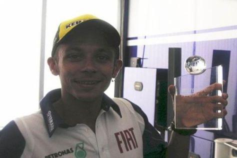Valentino Rossi freute sich sehr über die Auszeichnung von Motorsport-Total.com