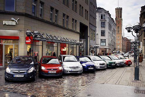 Wer ist Chef im Stadtrevier? Acht Autos bewerben sich um den Posten.