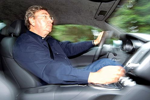 AUTO BILD-Autor Georg Kacher im Audi R8