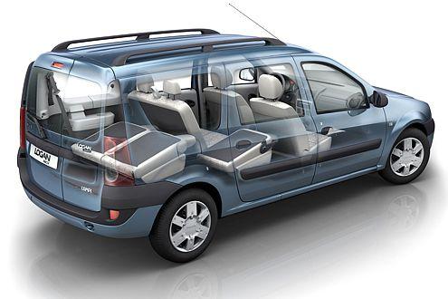 Für 500 Euro Aufpreis liefert Dacia den Kombi als offiziellen Siebensitzer.