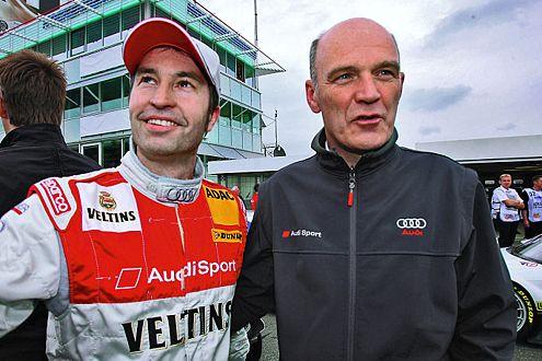 Poleposition, dann Eklat: Frentzen und Audi-Sportchef Ullrich.