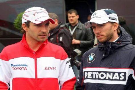 Waren früher bei BMW Kollegen: Timo Glock und Nick Heidfeld