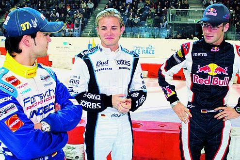 Nico Rosberg mit Andreas Wirth (li.) und Michael Ammermüller (re.)