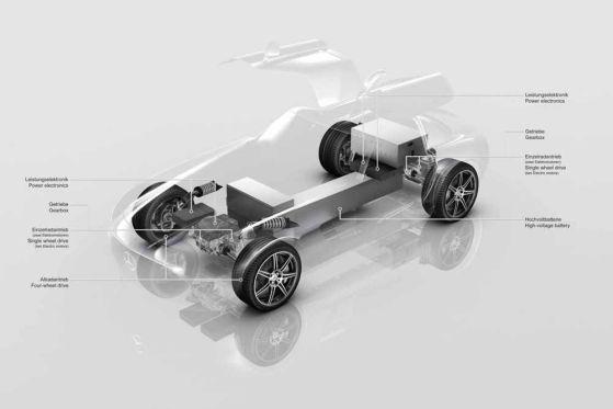 Mercedes SLS mit Elektroantrieb