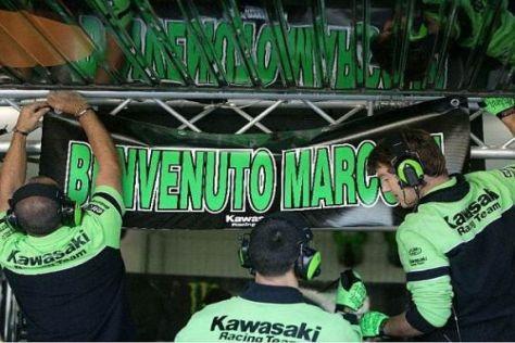 Marco Melandri war vom Kawasaki-Werksteam freundlich begrüßt worden