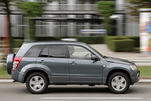 Gut gerüstet auch für unbefestigte Strecken: der Suzuki Grand Vitara.