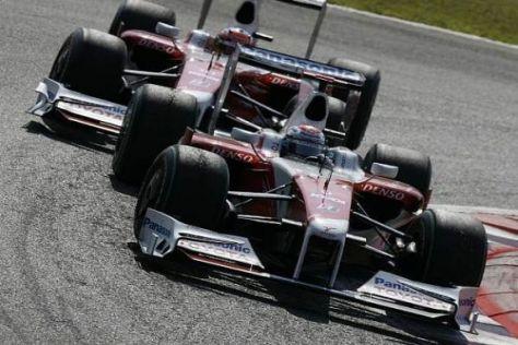 Timo Glock landete letztendlich vor seinem Teamkollegen Jarno Trulli