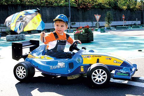 Ein echter Hingucker: Formel 1 für Kinder.