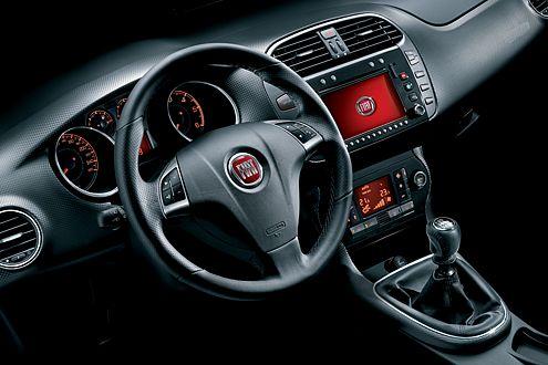 Hübsch aufgeräumt: das Cockpit mit zum Fahrer geneigter Mittelkonsole.