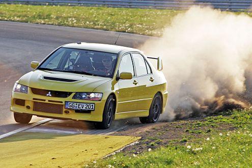 Geht höllisch gut: Mitsubishi Evo IX.