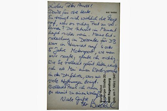 Postkarte Walter Röhrl