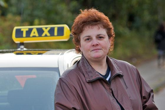 Taxifahrerin Dinana Liantis