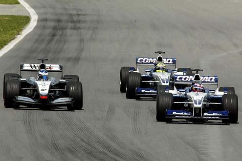 Auf dem Weg zum Sieg. F1- Grand Prix von Kannada 2001.