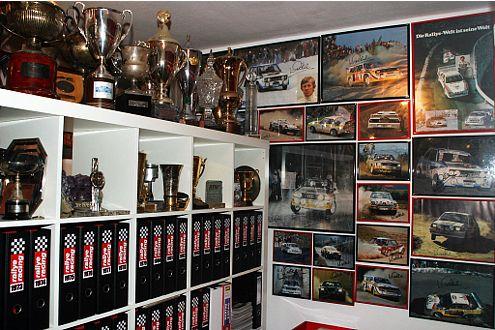 Klein, aber fein: das Röhrl-Museum Rallye-Fan Alfons François Bauer.