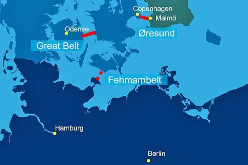 Streitpunkt finanzielles Risiko: Bau der Fehmarnbelt-Brücke in Gefahr.