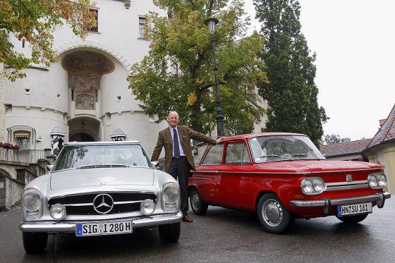 Mit dem NSU Prinz auf der Hohenzollernstraße