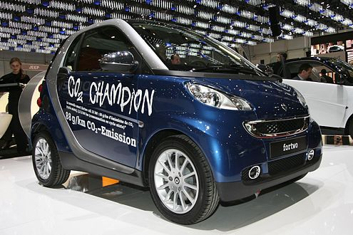 """Selbst ernannter """"CO2-Champion"""": Smart fortwo cdi mit 88 g CO2/km."""