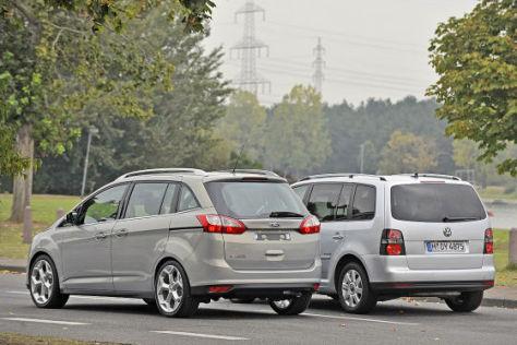 Ford Grand C Max Gegen Vw Touran Vergleich Autobild De