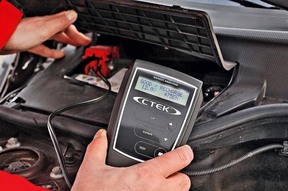 Kälteprüfstrom: Er wird von der Werkstatt gemessen, zeigt den Ladezustand der Batterie.