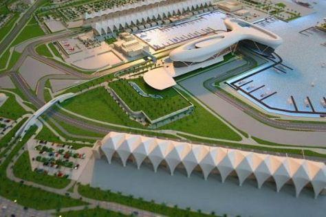 Die beeindruckende Streckenanlage von Abu Dhabi bildet das Saisonfinale