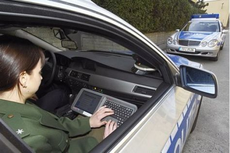 Hightech in Polizeiautos