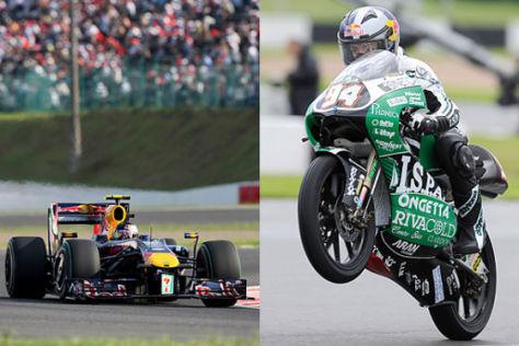 Sebastian Vettel und Jonas Folger