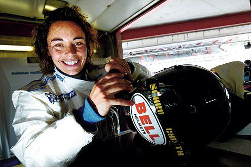 """Auch 2007 wieder im """"Audi-Boot"""": Vanina Ickx fährt im Team TME-Kolles."""