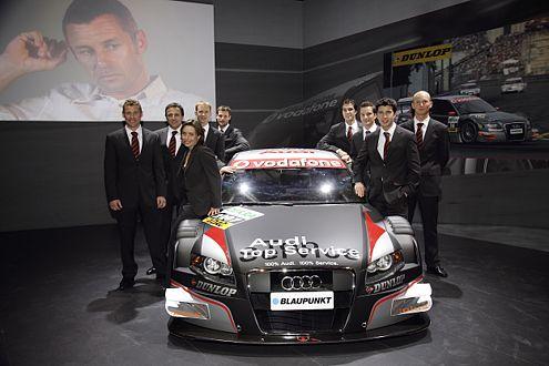 DTM-A4 mit Fahrern: Kristensen, Abt, Ickx, Ekström, Tomczyk, Luhr, Scheider, Rockenfeller, Prémat.