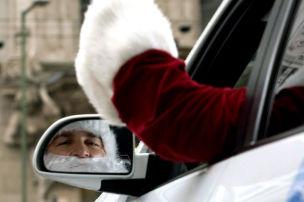 Weihnachts-Fahrer