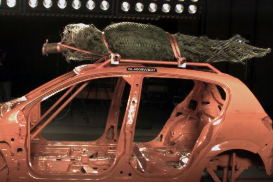 Weihnachtsbaum-Crashtest