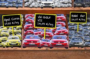 Was kostet ein Kilo Auto?