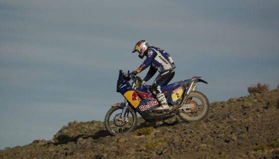 Neuer Gesamtführender: Cyril Despres (Frankreich, KTM) liegt nach seinem heutigen zweiten Platz ganz vorn.