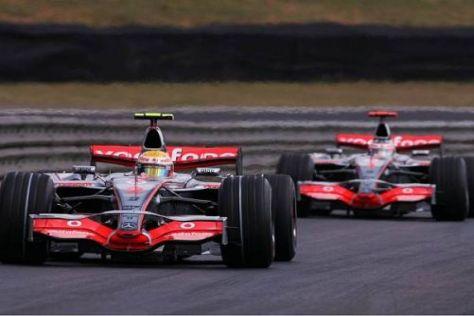 Lewis Hamilton hielt Fernando Alonso 2007 des öfteren hinter sich