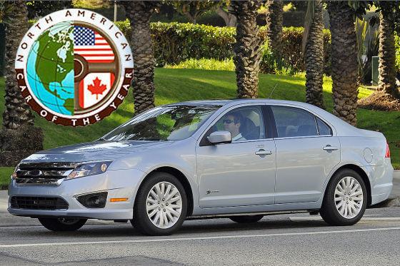 Der Ford Fusion Hybrid gewann mit 241 Punkten vor VW Golf (146 Punkte) und Buick LaCrosse (103 Punkte).