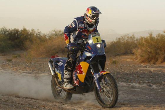 Souverän: Der Franzose Cyril Despres, der seit der dritten Etappe führte, gewinnt die Rallye Dakar 2010 auf KTM.