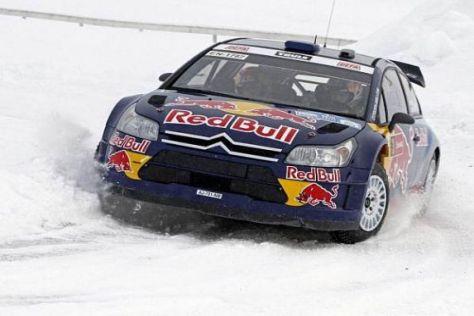 Kimi Räikkönen im Schnee: Bei der Arctic-Rallye hatte er noch etwas das Nachsehen