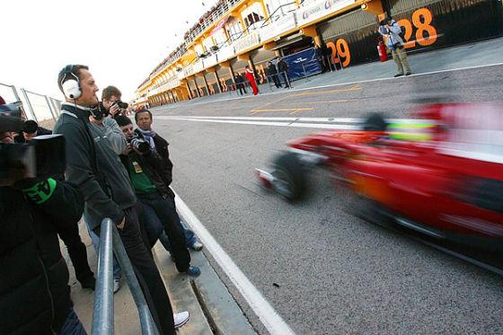 Michael Schumacher beim F1-Test in Valencia