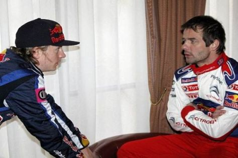 Erst gemeinsam in Paris, dann zusammen in Schweden: Räikkönen und Loeb