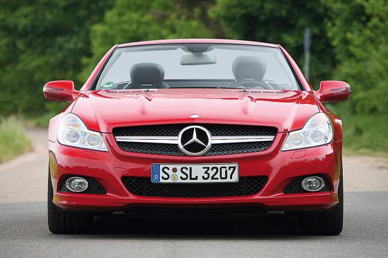 Keiner heizt besser als der Mercedes SL 350.